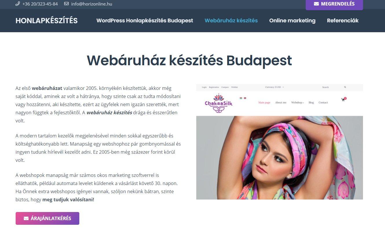 okos webshop készítése